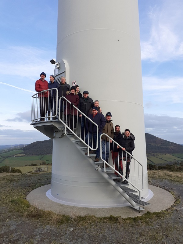 Visitors from dingle at Templederry Community Owned Wind Farm