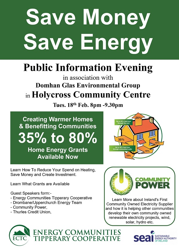 Energy Communities Tipperary Cooperative, Community Power information event
