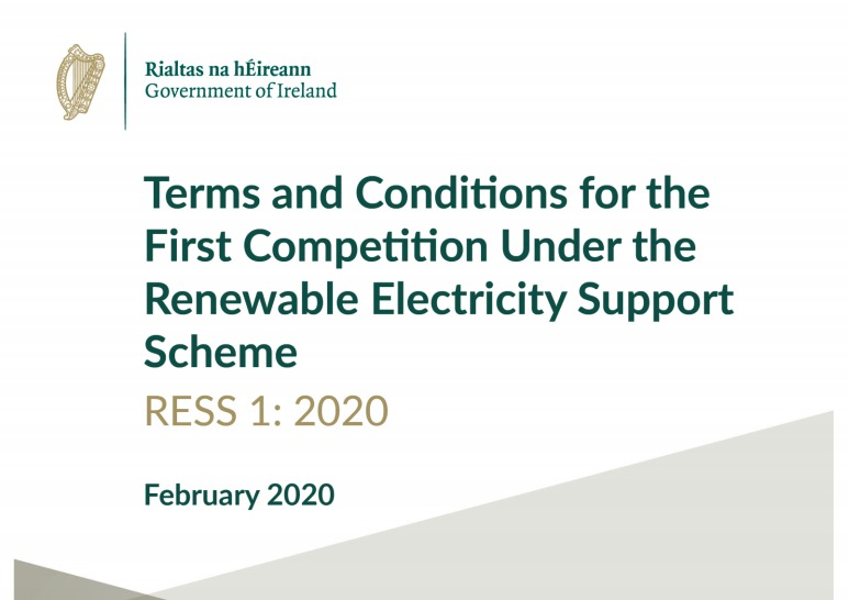 Terms & Conditions for Renewable Electricity Support Scheme (RESS) First Auction