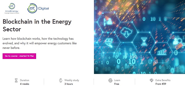 online renewable energy courses blockchain