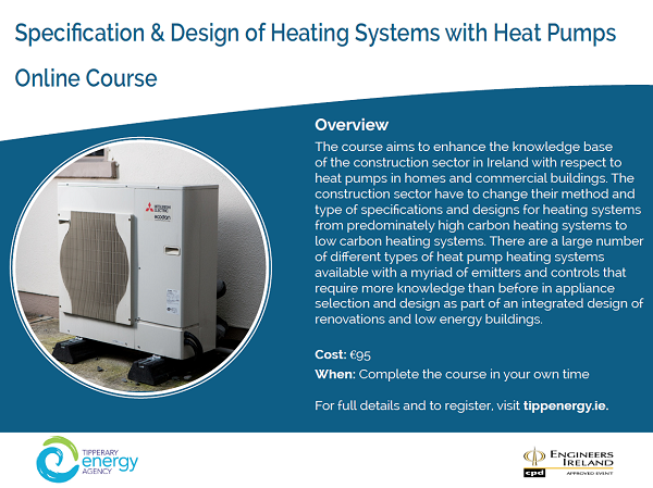 Specification & Design of Heating Systems with Heat Pumps Online Course