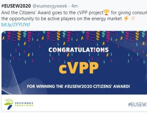 Community Power wins Citizens' Award at the EU Sustainable Energy Week 2020